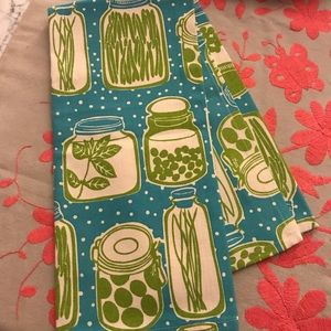 Crate and barrel new unused canning dish towel